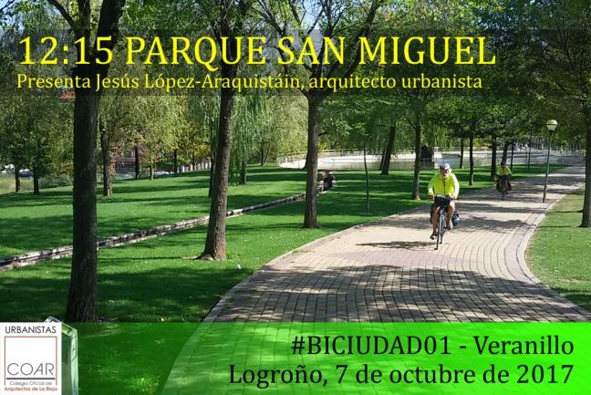 BICIUDAD01 Veranillo - TARJETA Parque San Miguel